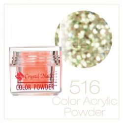 Crystal Nails - Praf acrylic colorat - 516 - Verde deschis brilliant  7g