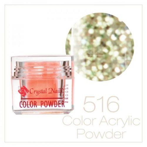 Crystal Nails - Praf acrylic colorat - 516 - Verde deschis brilliant  7g
