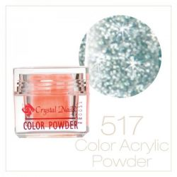 Crystal Nails - Praf acrylic colorat - 517 - Verde turcoaz brilliant  7g