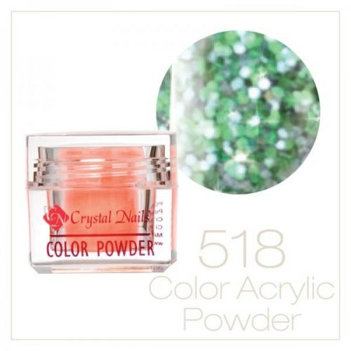Crystal Nails - Praf acrylic colorat - 518 -  albastru deschis brilliant  7g