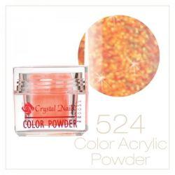Crystal Nails - Praf acrylic colorat - 524 -  Portocaliu irizat brilliant  7g