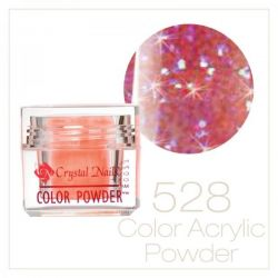 Crystal Nails - Praf acrylic colorat - 528 - Roz irizat brilliant  7g