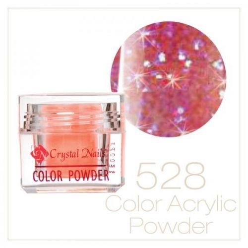 Crystal Nails - Praf acrylic colorat - 528 - Roz irizat brilliant  7g