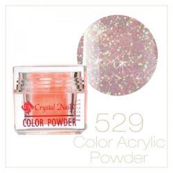 Crystal Nails - Praf acrylic colorat - 529 -  Roz-auriu brilliant  7g