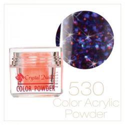 Crystal Nails - Praf acrylic colorat - 530 - Rosu-albastru brilliant  7g