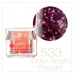 Crystal Nails - Praf acrylic colorat - 533 - Bordo brilliant  7g