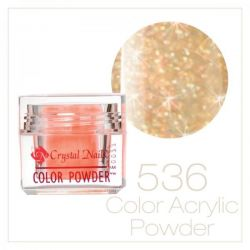 Crystal Nails - Praf acrylic colorat - 536 - Galben brilliant  7g