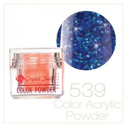 Crystal Nails - Praf acrylic colorat - 539 - Albastru regal brilliant  7g