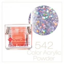 Crystal Nails - Praf acrylic colorat - 542 - Mov irizat brilliant  7g