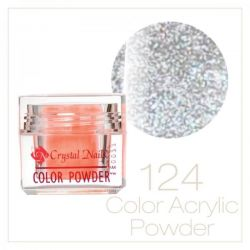 CRYSTAL NAILS - Praf acrylic colorat - 124 - 7g