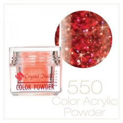 CRYSTAL NAILS - Praf acrylic colorat - 550 -  7g