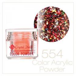 CRYSTAL NAILS - Praf acrylic colorat - 554-  7g
