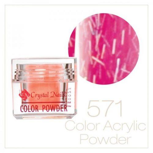 CRYSTAL NAILS - Praf acrylic colorat - 571 -  7g
