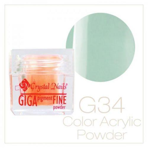 CRYSTAL NAILS - Praf acrylic colorat - 34 -  7g