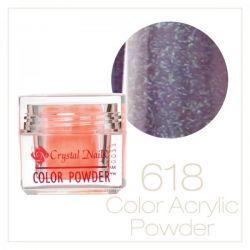CRYSTAL NAILS - Praf acrylic colorat - 618 - 7g