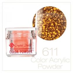 CRYSTAL NAILS - Praf acrylic colorat - 611 - 7g