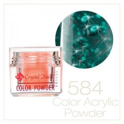 CRYSTAL NAILS - Praf acrylic colorat - LASER BRILL 584 - 7g