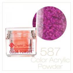 CRYSTAL NAILS - Praf acrylic colorat - LASER BRILL  587 - 7g