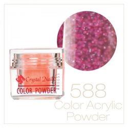 CRYSTAL NAILS - Praf acrylic colorat - LASER BRILL  588 - 7g