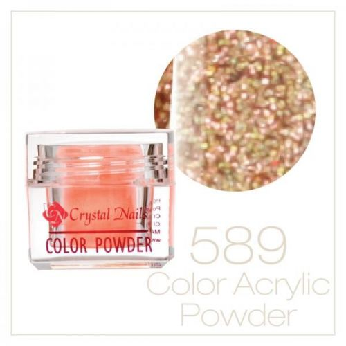 CRYSTAL NAILS - Praf acrylic colorat - LASER BRILL 589 - 7g