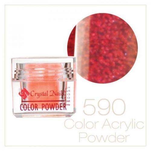 CRYSTAL NAILS - Praf acrylic colorat - LASER BRILL 590 - 7g