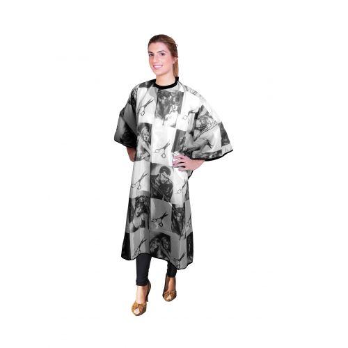 ES - Pelerina pentru tuns model foarfeca - negru