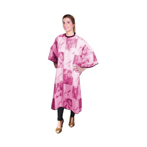 ES - Pelerina pentru tuns model foarfeca - rosu