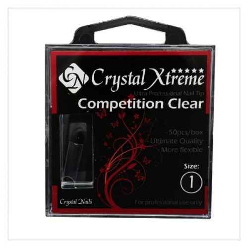 Crystal Nails - Tips Xtreme Competition Clear box - 1 (50 buc/set)