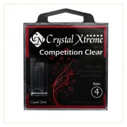 Crystal Nails - Tips Xtreme Competition Clear box - 4 (50 buc/set)