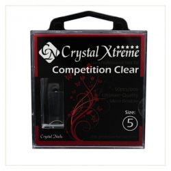 Crystal Nails - Tips Xtreme Competition Clear box - 5 (50 buc/set)