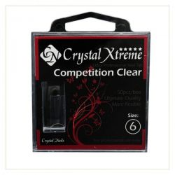 Crystal Nails - Tips Xtreme Competition Clear box - 6 (50 buc/set)