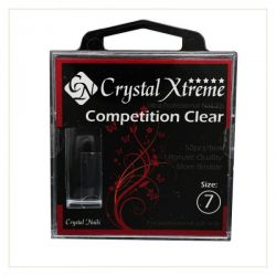 Crystal Nails - Tips Xtreme Competition Clear box - 7 (50 buc/set)