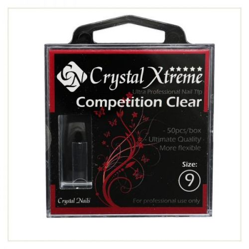 Crystal Nails - Tips Xtreme Competition Clear box - 9 (50 buc/set)