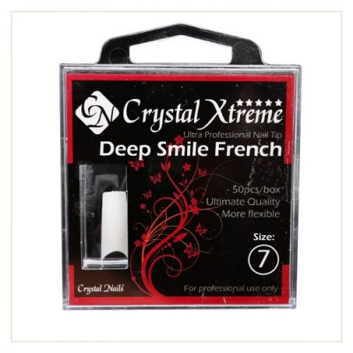 Crystal Nails - Tipsuri Xtreme Deep Smile French nr. 7 (50 buc. /set)