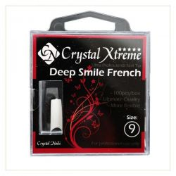 Crystal Nails - Tipsuri Xtreme Deep Smile French nr. 9 (50 buc. /set)