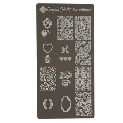 Crystal Nails - Stamping Plate -Sweetheart (matrita pt stampila)