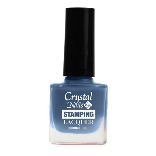Crystal Nails - Lac pentru Stampila - Chrome Blue (4ml)