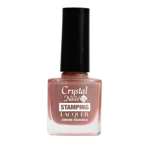 Crystal Nails - Lac pentru Stampila - Chrome Rose Gold (4ml)
