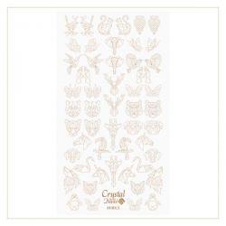 Crystal Nails - Water Decal Coloring Style - Abtibilde pentru Contur Modele - Animals Gold