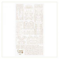 Crystal Nails - Water Decal Coloring Style - Abtibilde pentru Contur Modele - Vines Gold