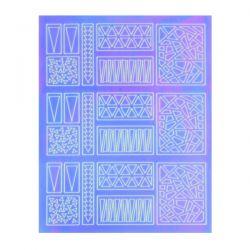 Crystal Nails - Sticker Mirror - 2 (abtibild unghii)