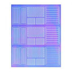 Crystal Nails - Sticker Mirror - 3 (abtibild unghii)