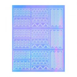 Crystal Nails - Sticker Mirror - 4 (abtibild unghii)