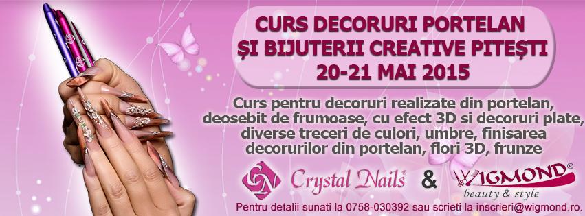 Curs Decoruri Portelan si Bijuterii Cretive Pitesti 20-21 mai 2015