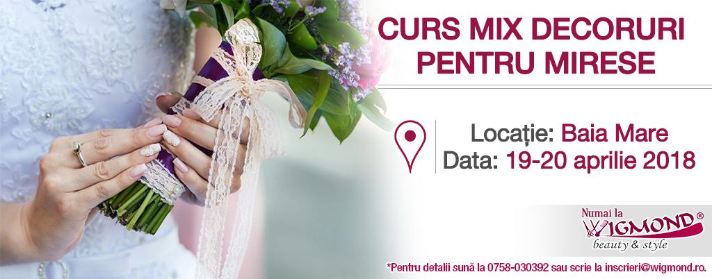 CURS MIX DECORURI PENTRU MIRESE data sa fie 19 – 20 aprilie 2018 la BAIA MARE