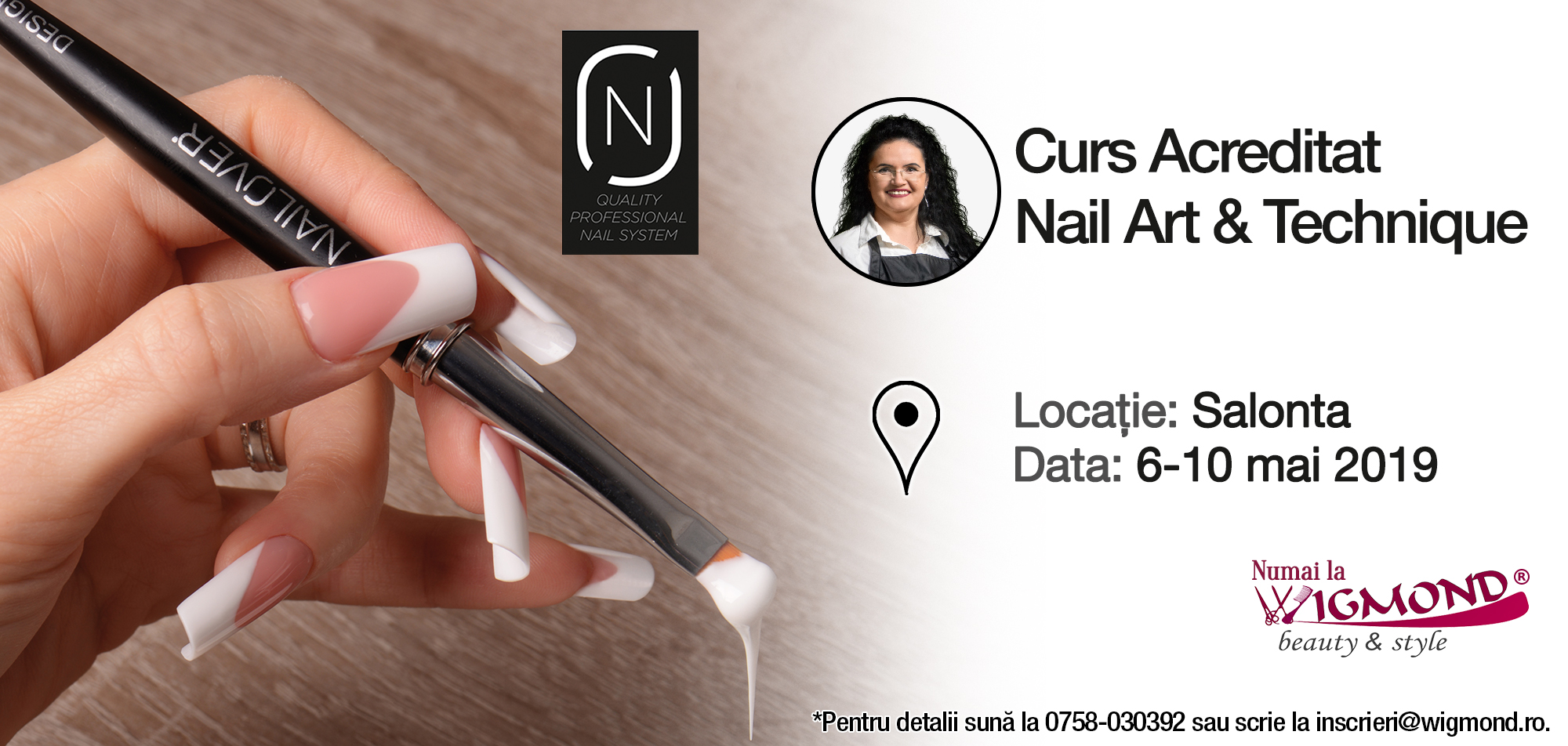 Cursul acreditat nail art Nailover 6-10 mai 2019