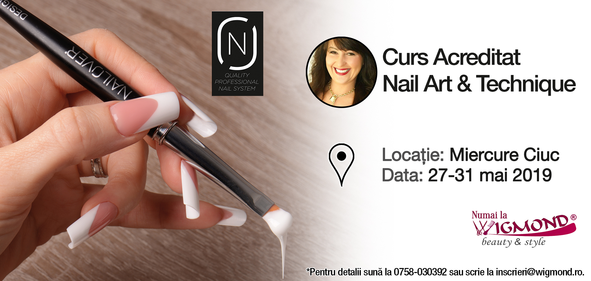 Cursul acreditat nail art Nailover Hanko MC 27-31 mai 2019